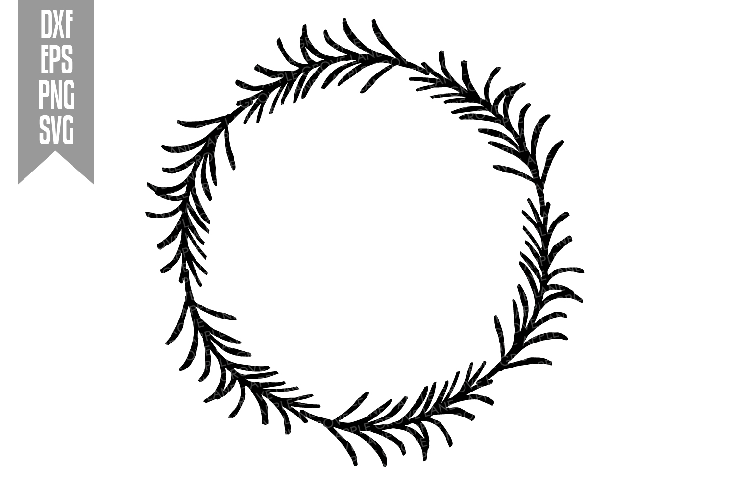 Wreath Svg Bundle - 6 designs included - Svg Cut Files example image 8