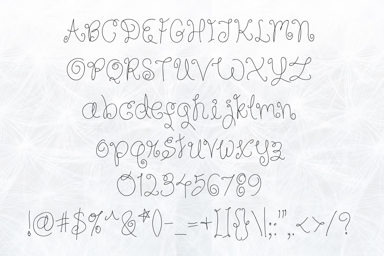 Sky Flower - Handwritten Font example image 4