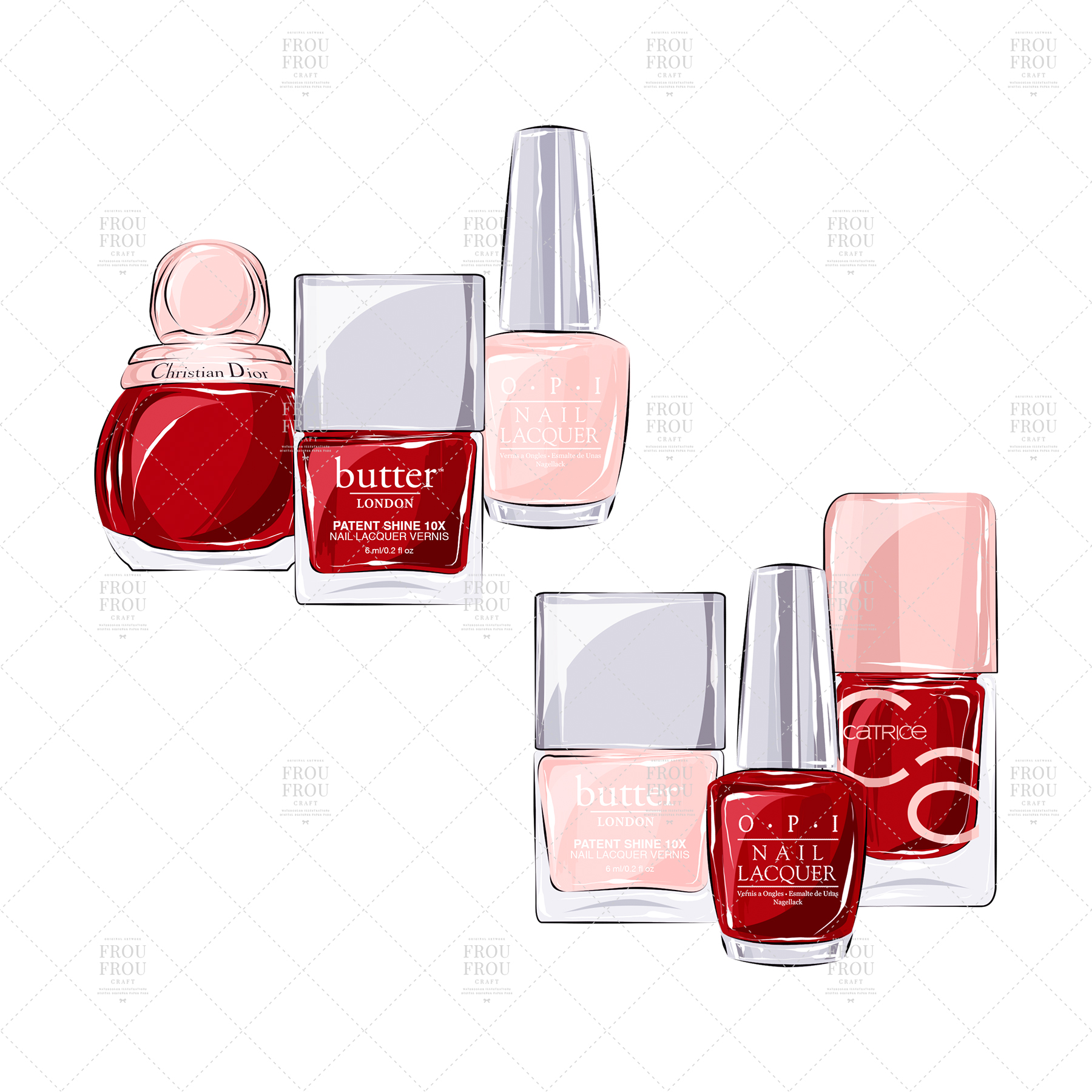 Manicure Cosmetic Nail Polish Beauty Clip Art example image 8