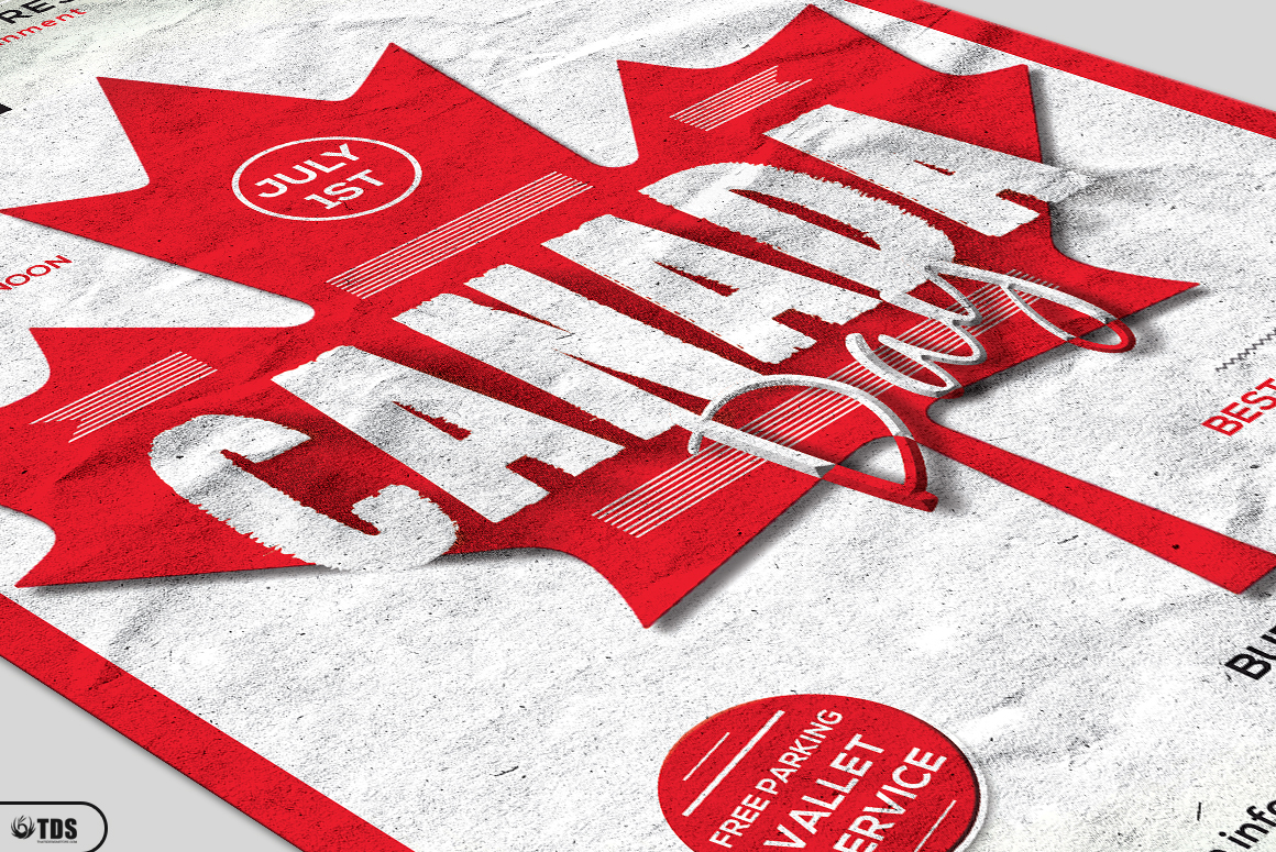 Canada Day Flyer Template example image 5