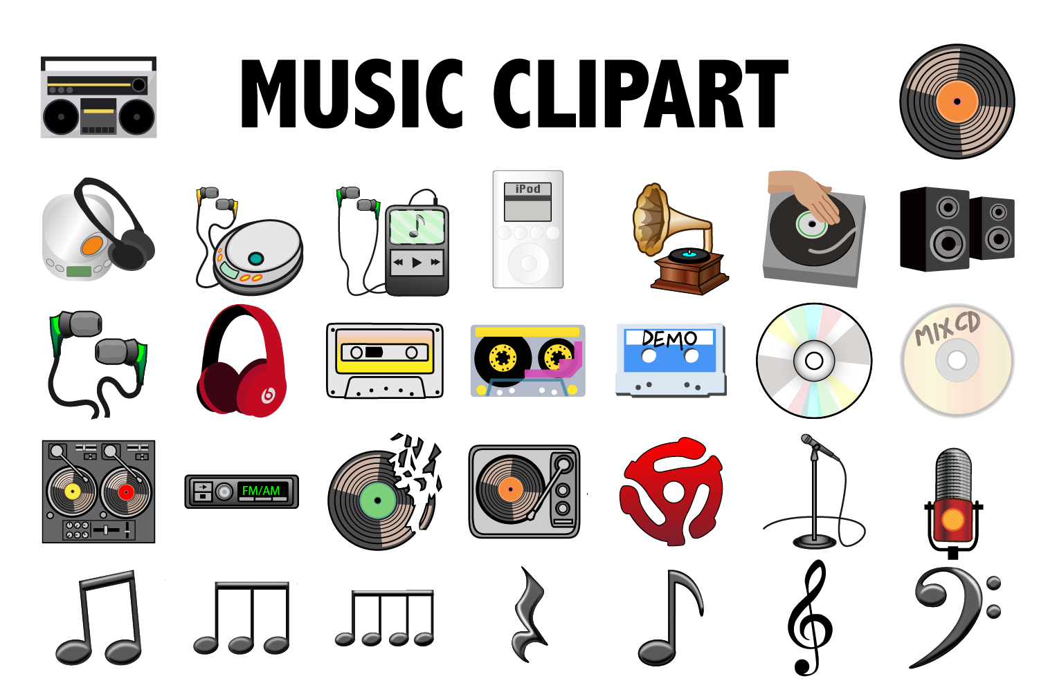 Music Clipart example image 1