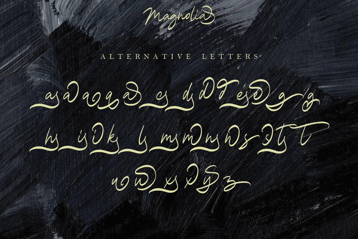 Magnolia A Stylish Calligraphy Font example image 12