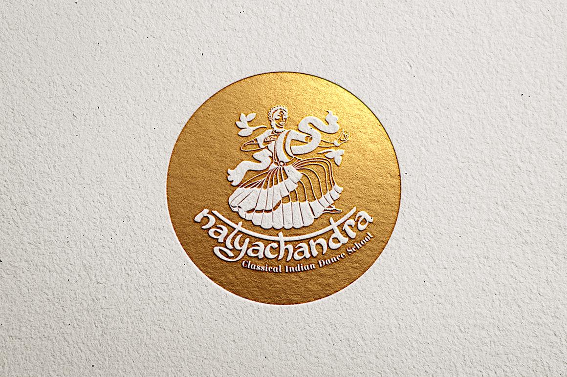 India Dance logo symbol illustration example image 2