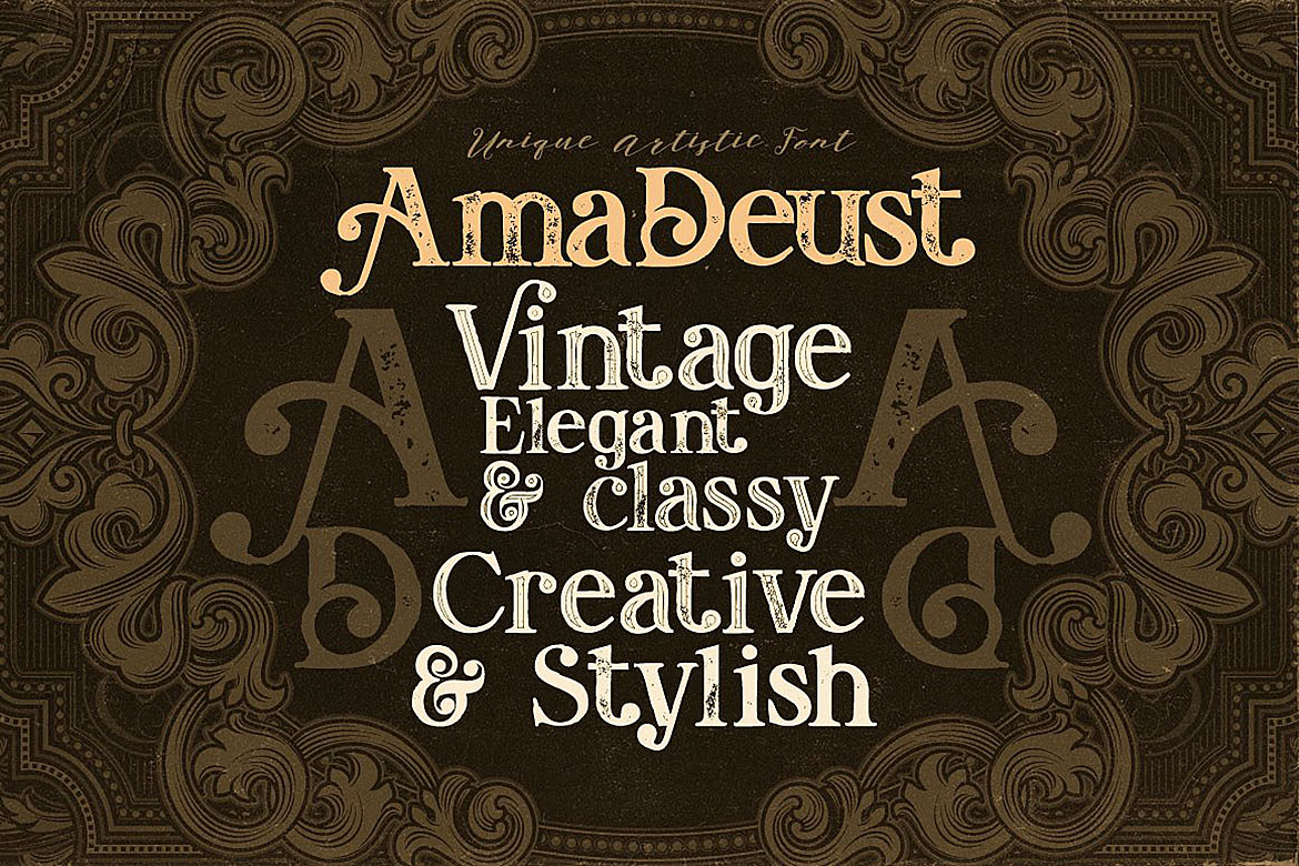 AmaDeust - Display Font example image 4