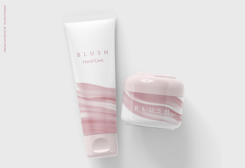 Blush Pink Paint Brush Strokes example image 6