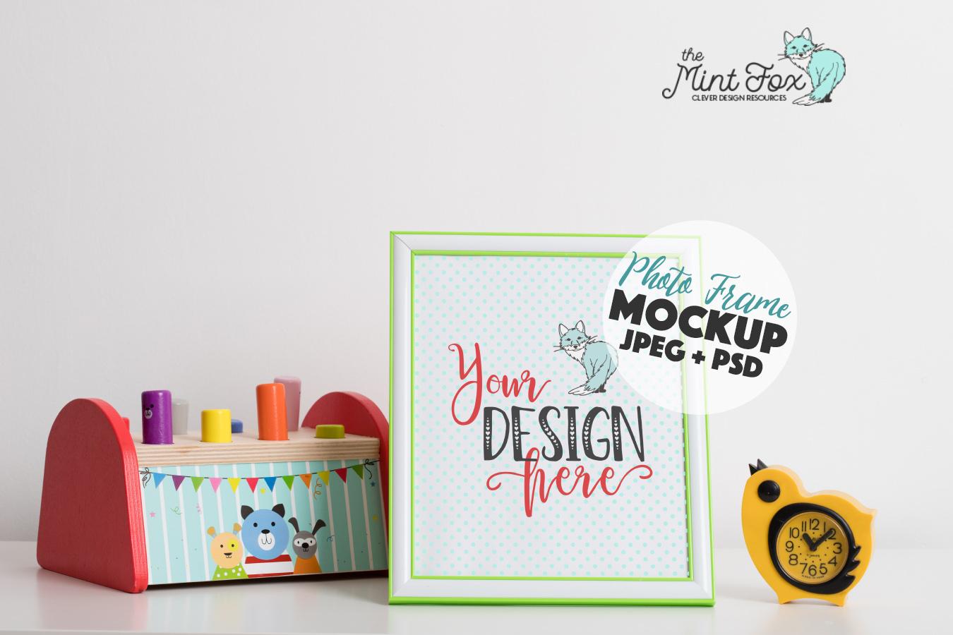 Children Photo Frame Mockup | Nursery Mock Up example image 1
