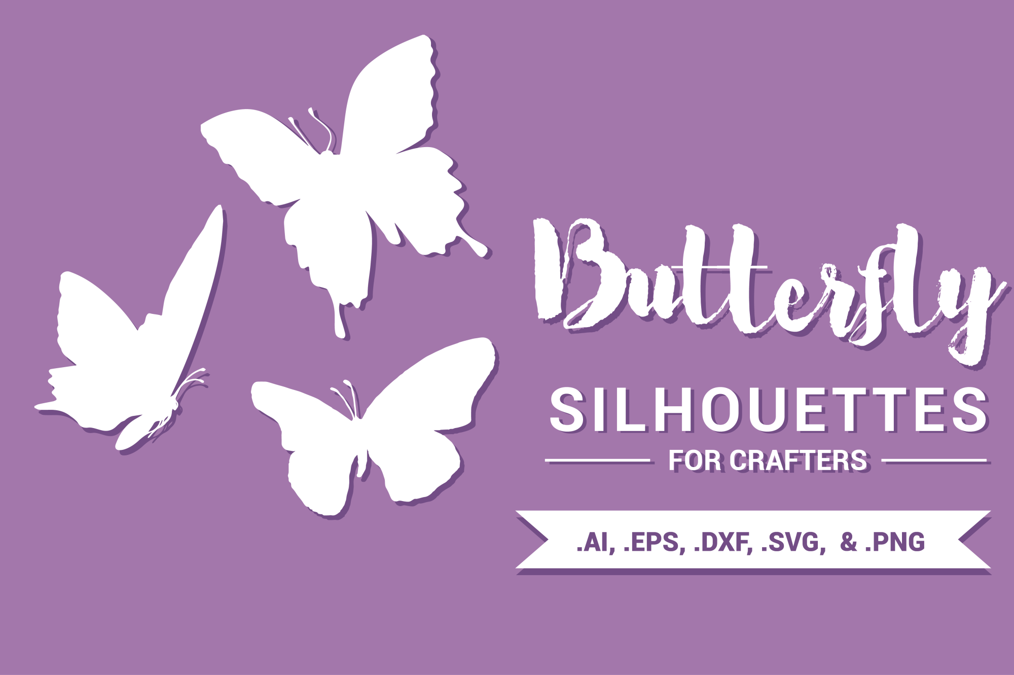 Butterfly Silhouettes for Crafters example image 1