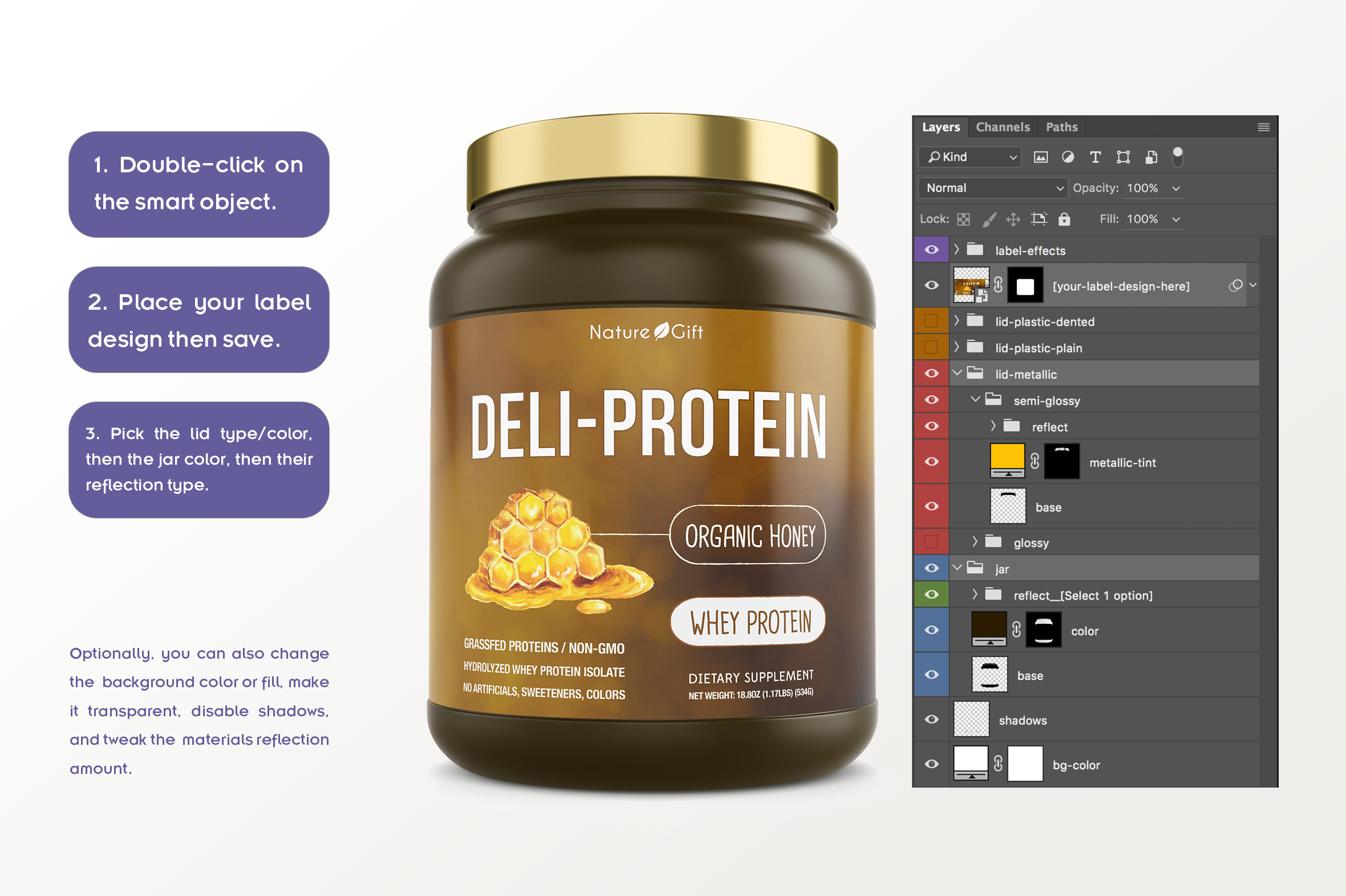 Protein Jar Mockup vol. 1A Plus example image 6