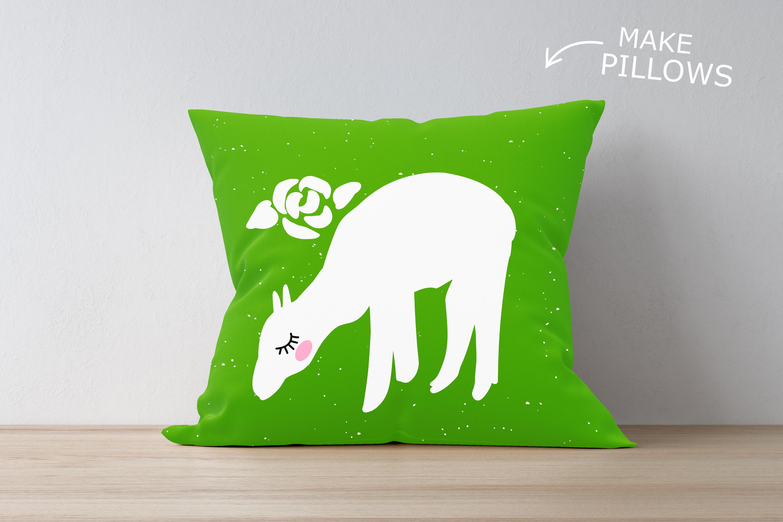 Alpaca Bundle SVG DXF EPS PNG example image 2