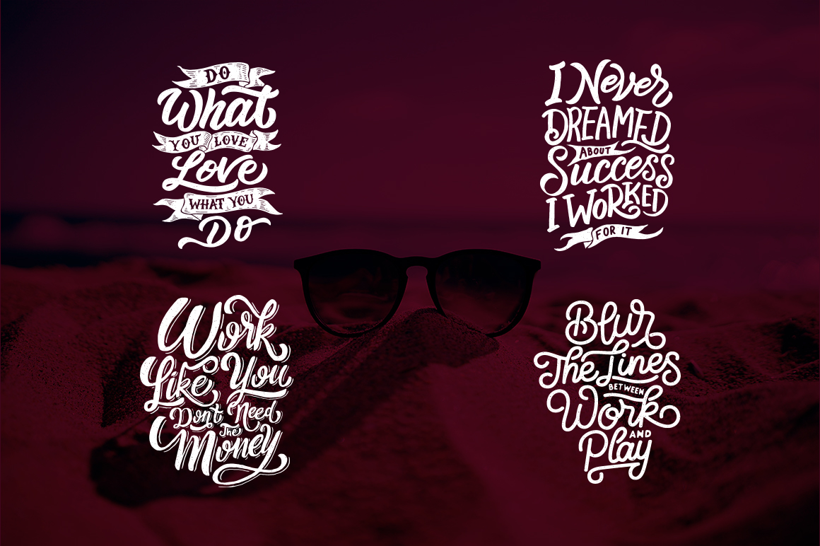 SVG Bundle - Hand Lettering Motivational Quotes Vol 2 example image 5