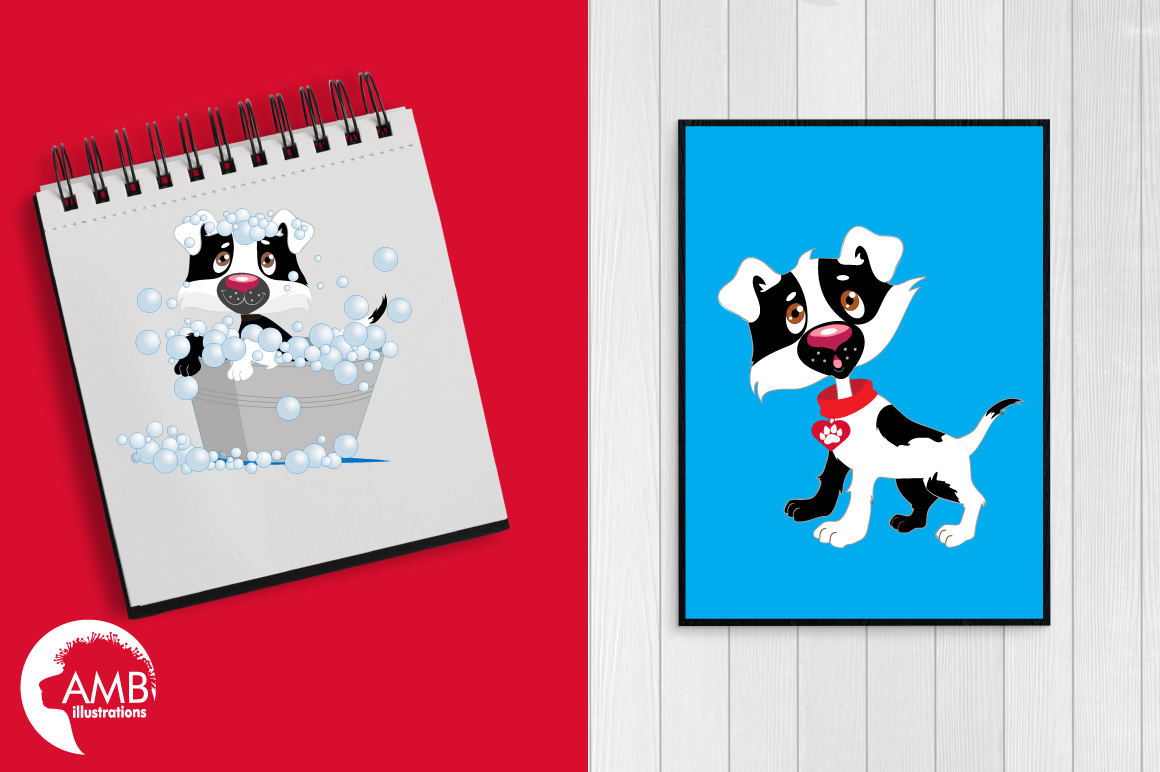 Day in a dog's life clipart, graphics, illustrations AMB-595 example image 3