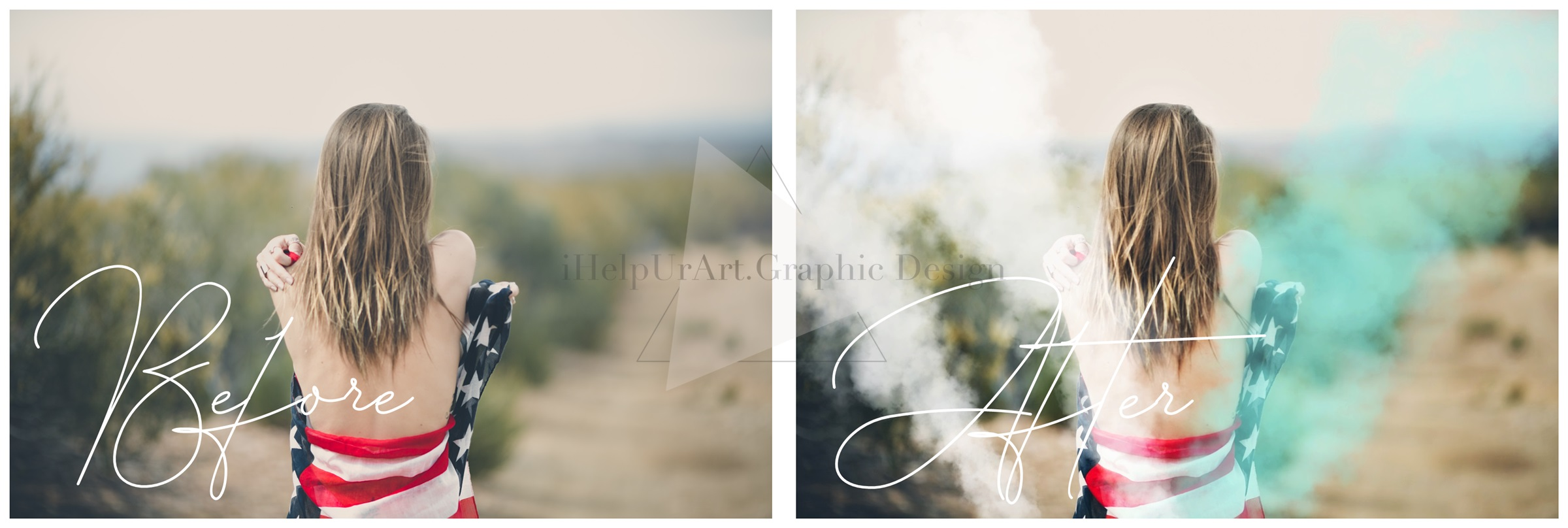 Smoke Photo Overlays - Colorful Smoke Clipart example image 2