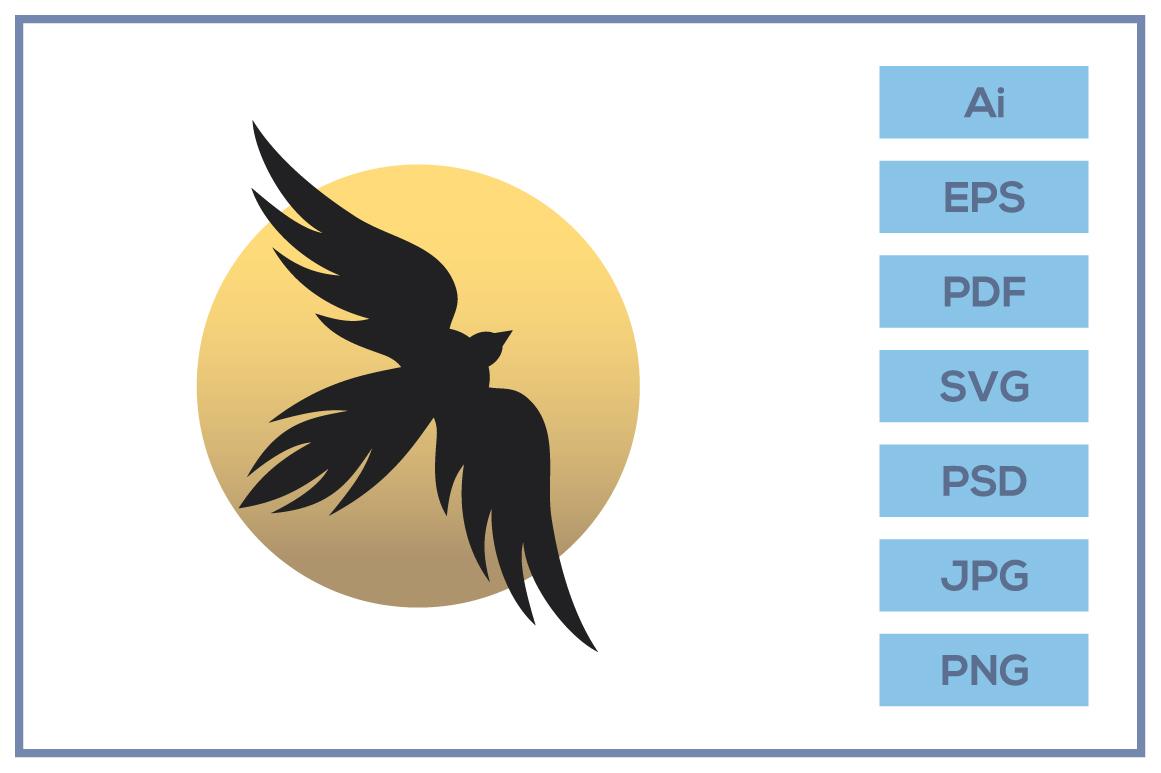 Vector of flying Bird logo design example image 1
