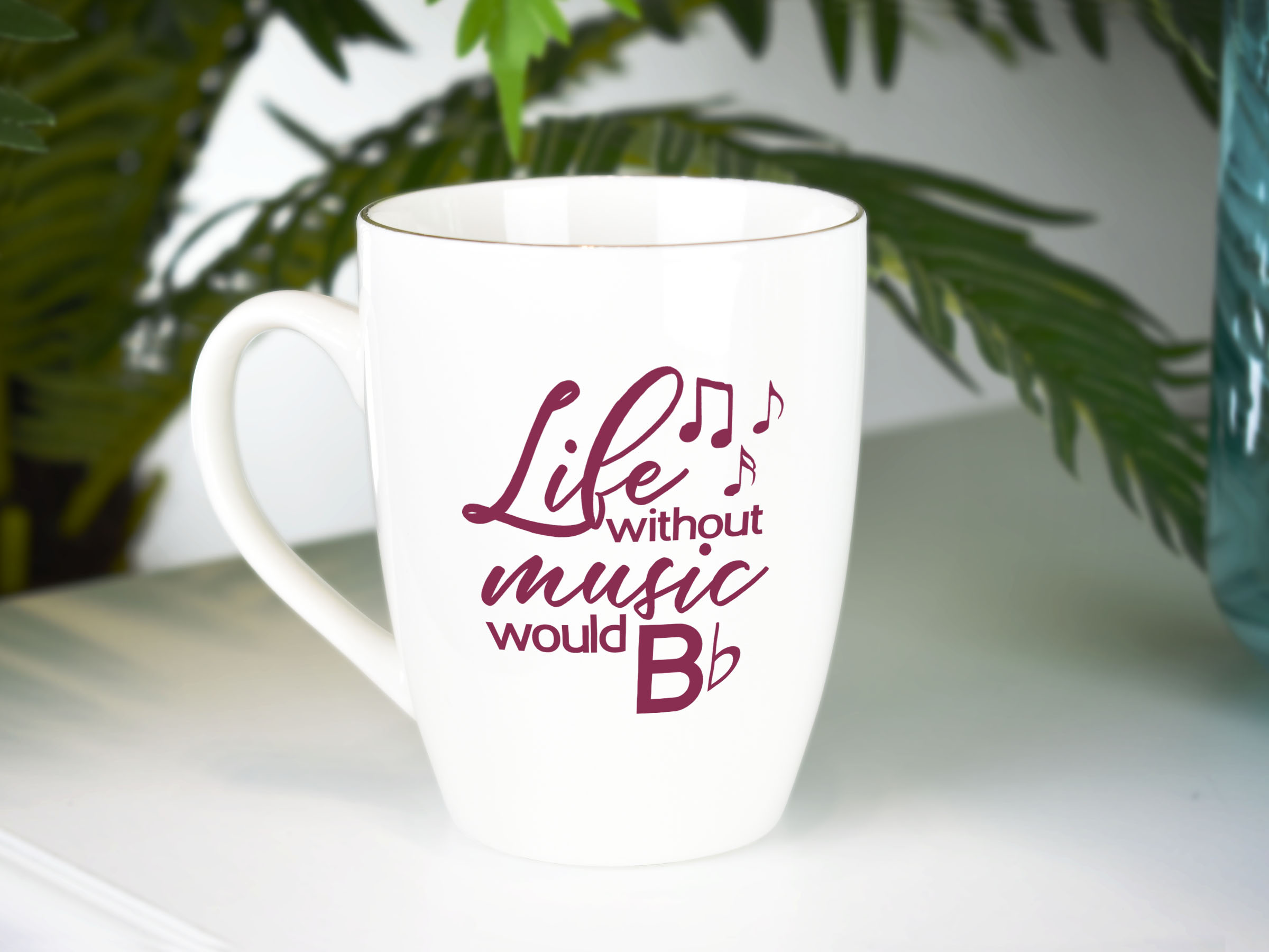 Life without music would B Flat. svg cut file Music teacher example image 3