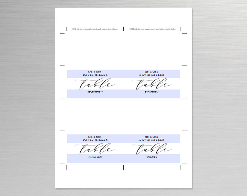 Place Card template example image 5