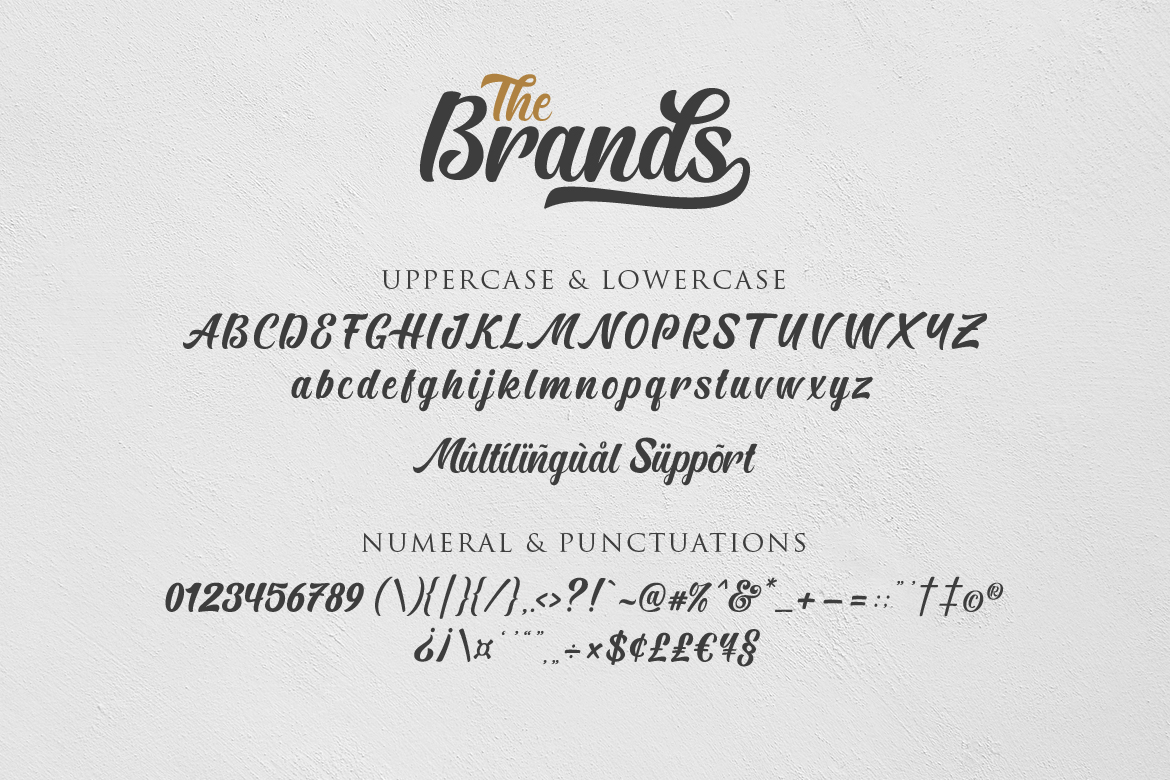 The Brands Font example image 11