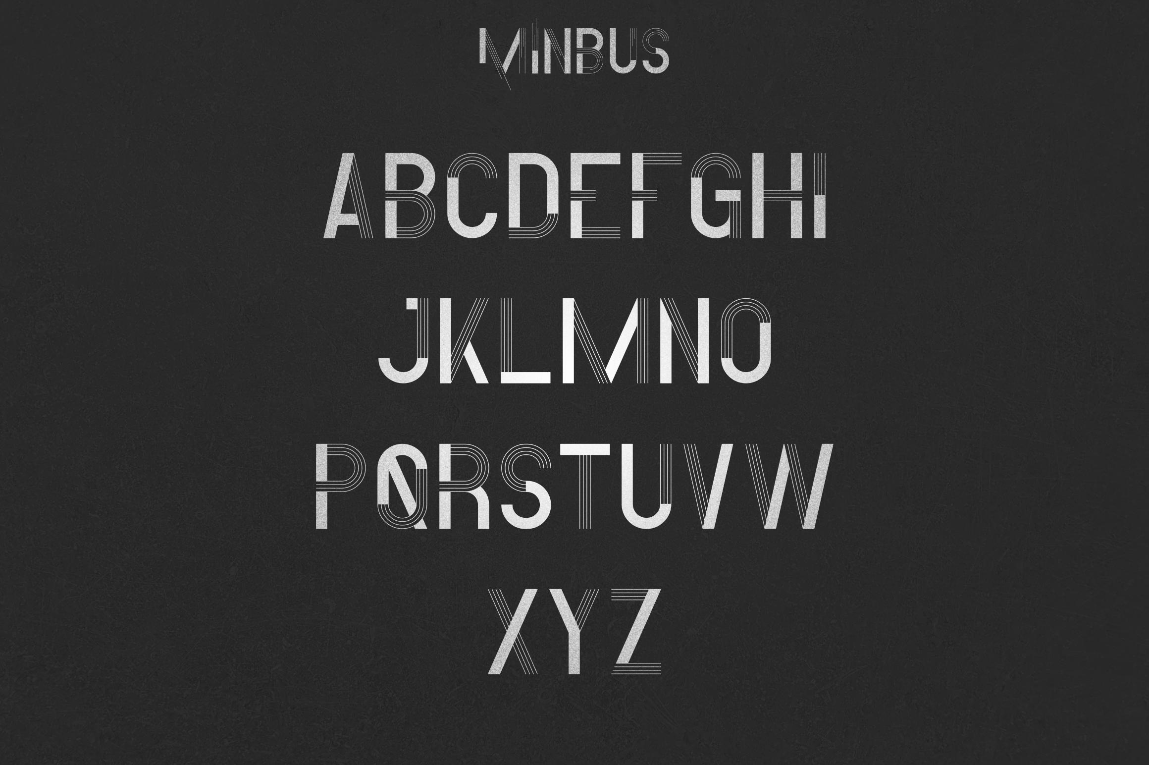 Minbus - Display font example image 3