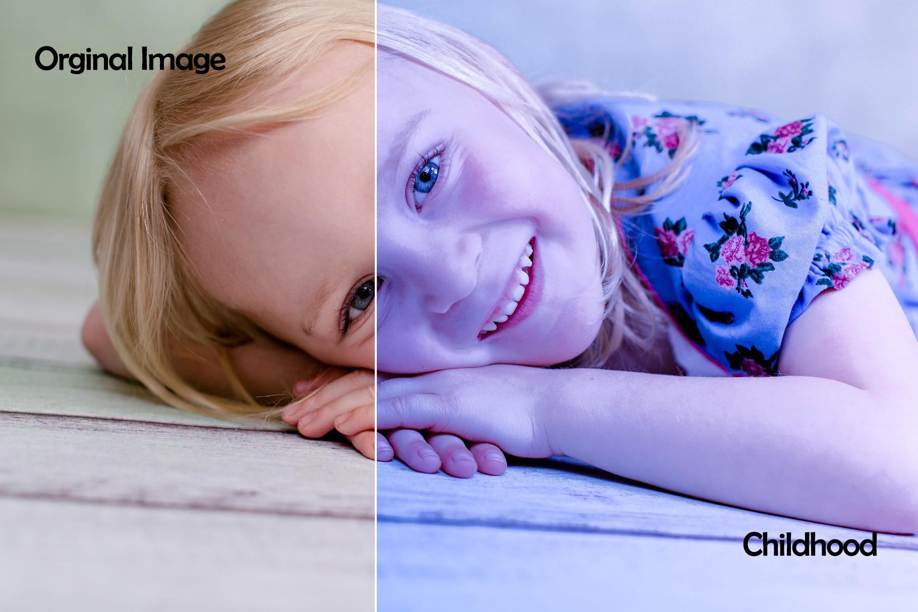 100 Side Light Childhood Lightroom Presets example image 15