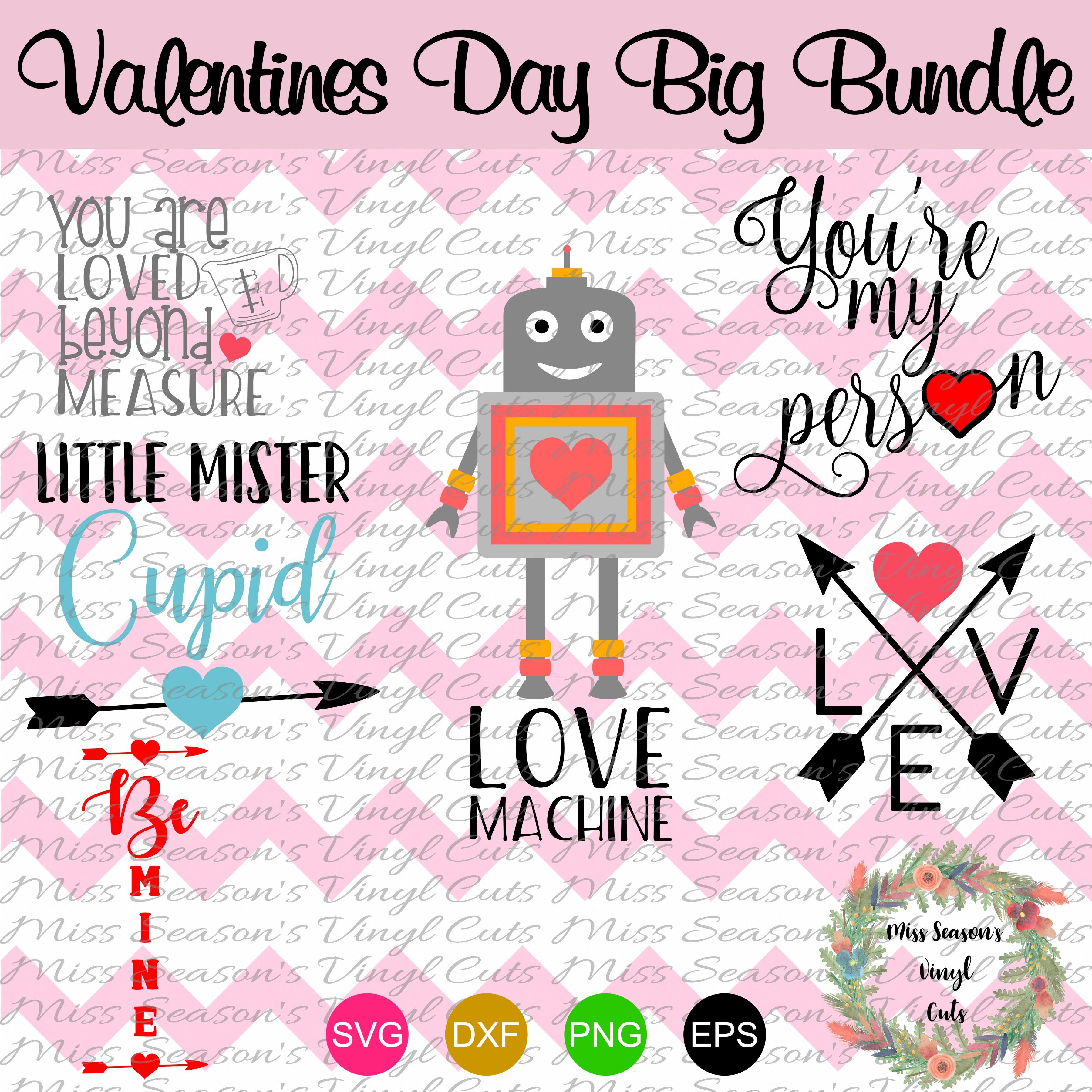 Huge Valentines Day Bundle SVG  example image 3