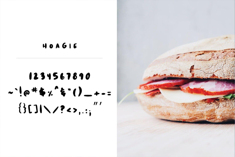 Hoagie | A fun fat brush font example image 3