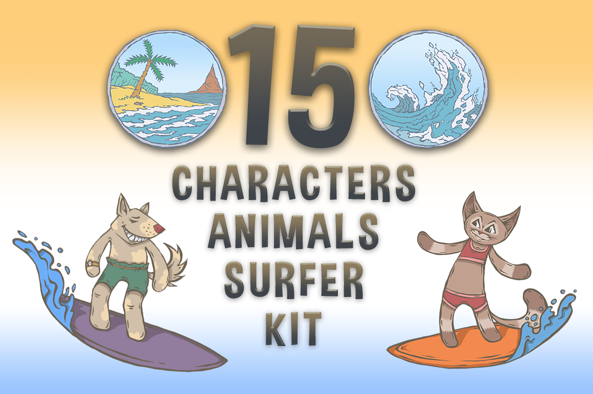 CHARACTERS Animals Surfer Kit example image 1