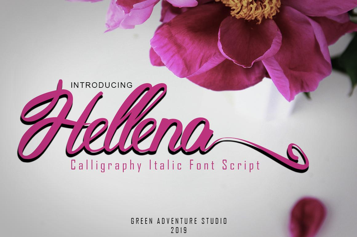 Hellena Italic-Calligraphy Italic Font Script example image 1