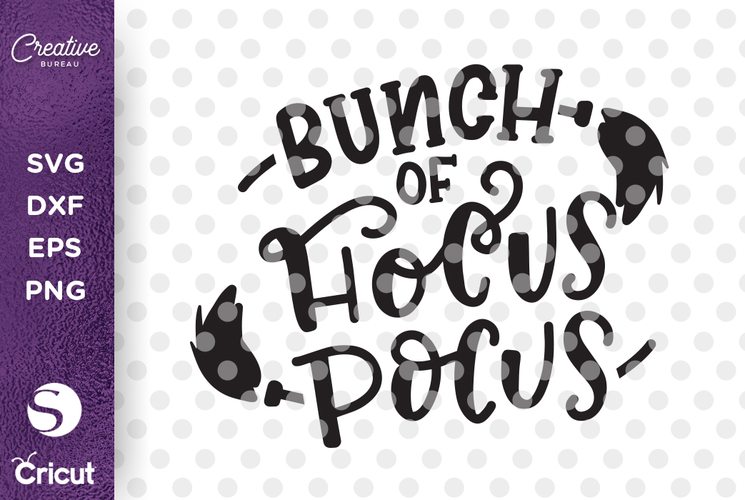 Bunch of Hocus Pocus SVG DXF Cut File, Halloween SVG DXF Cut example image 1