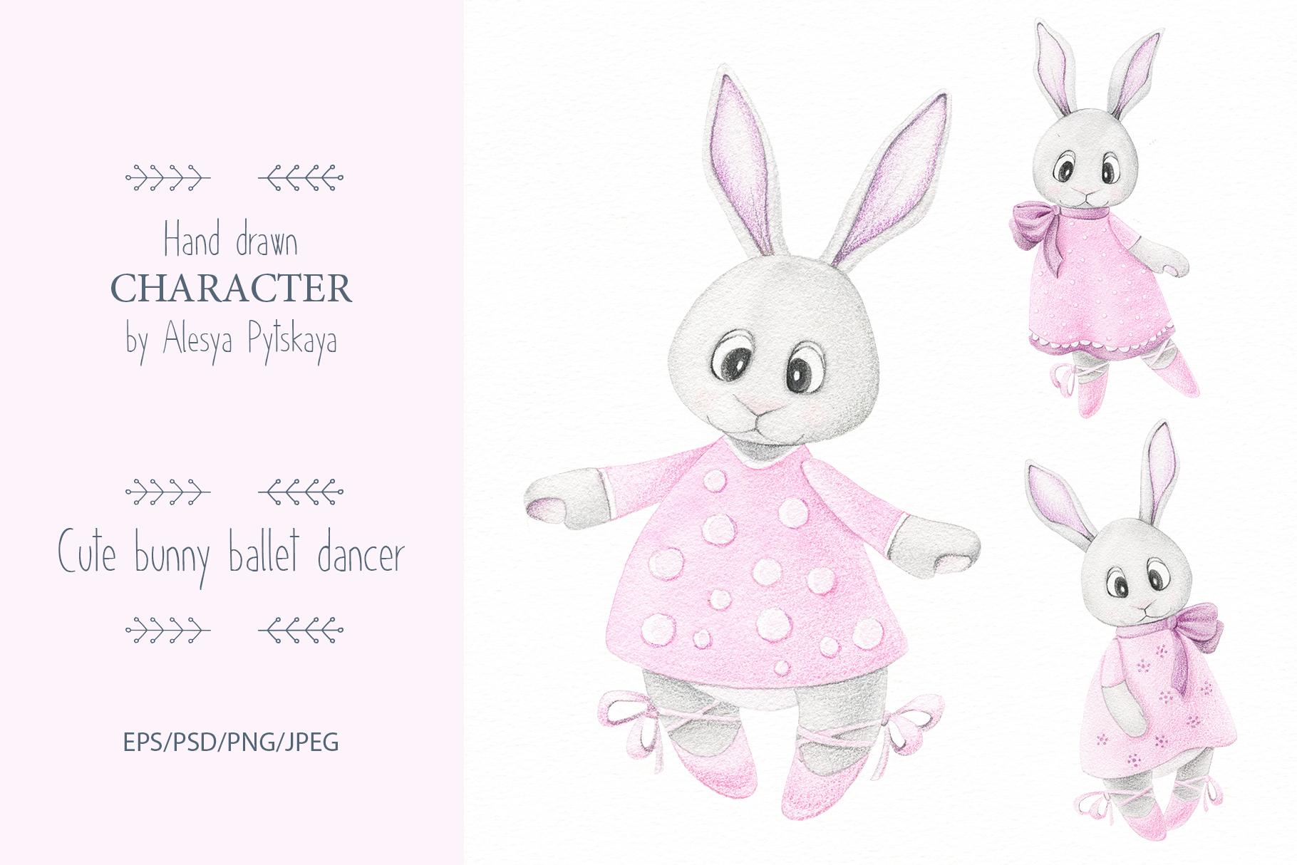 Cute bunny ballet dancer example image 1