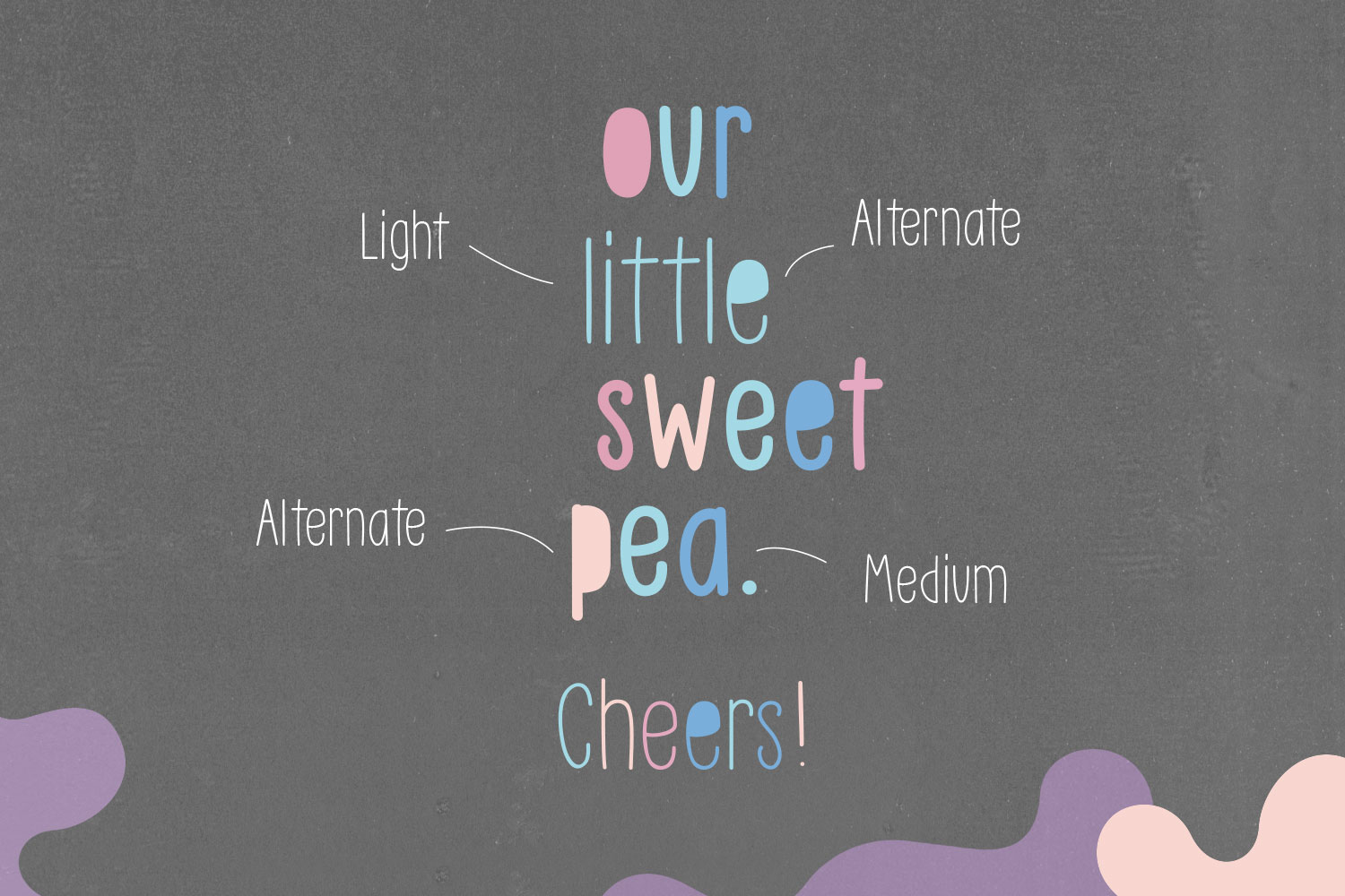 Little Pea - Handwritten font example image 7