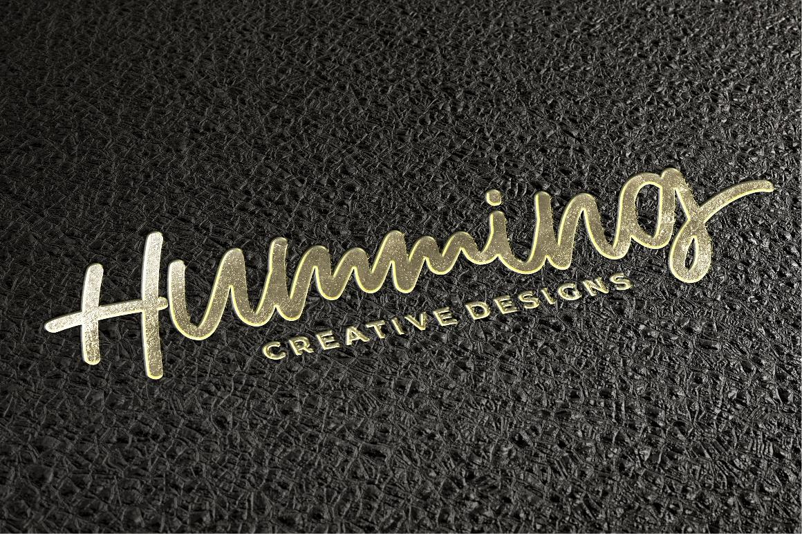 Humming - Monoscript Font example image 7