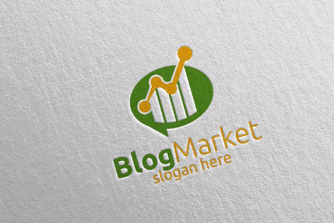 Blog Marketing Financial Advisor Logo Design Template 15 example image 4