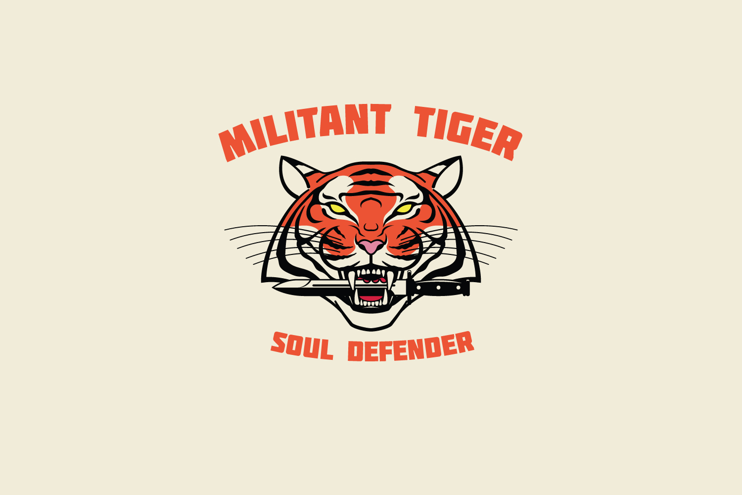 Militant Tiger Logo Template example image 2