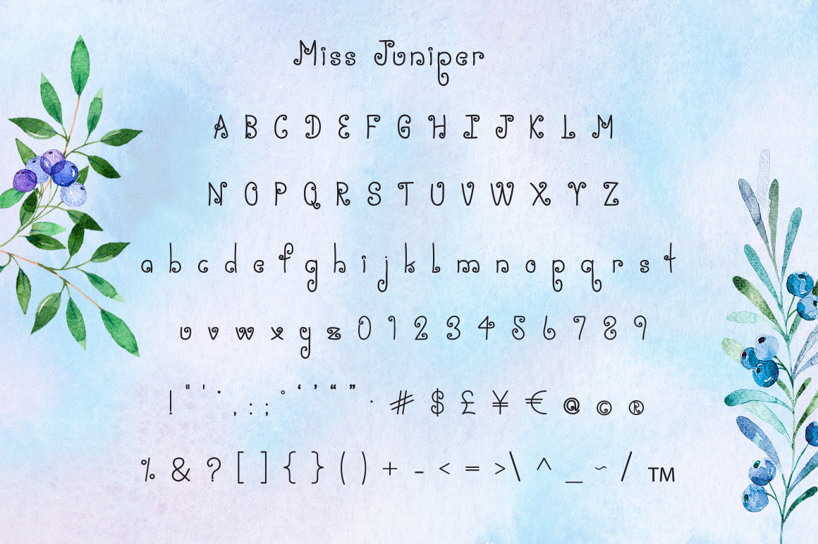 Miss Juniper - A Whimsical Font example image 3