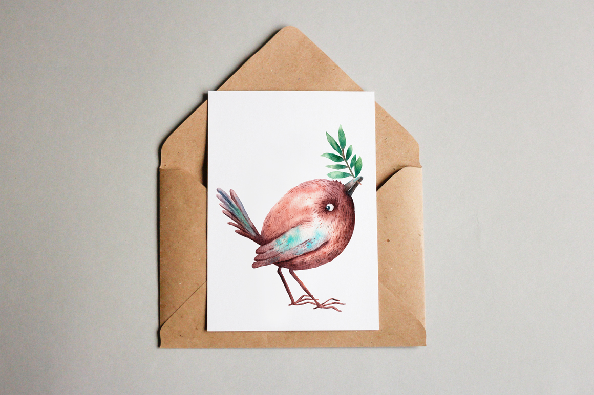 Tiny Birds - Watercolor Clip Art Set example image 13