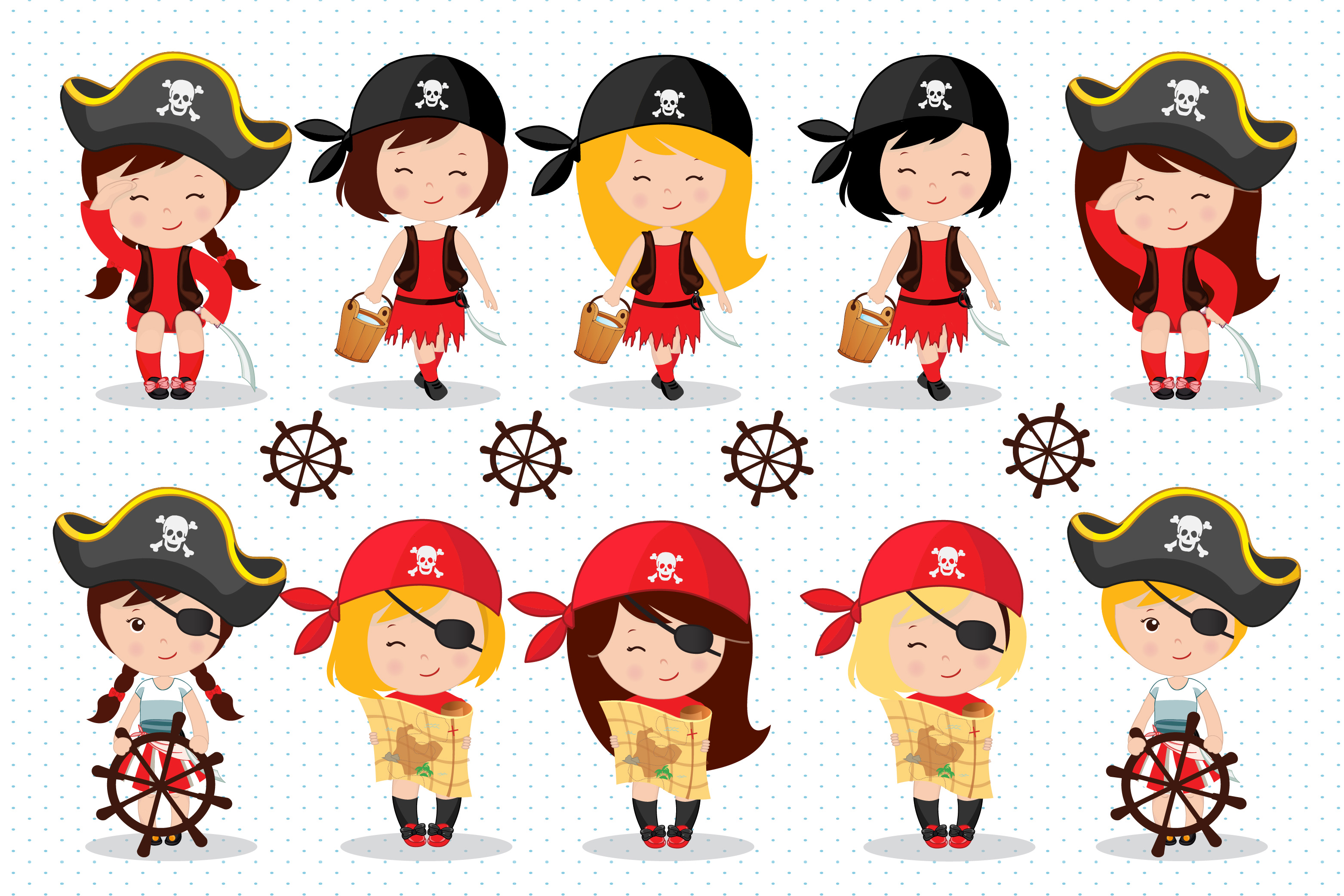 Картинки пиратов для девочек