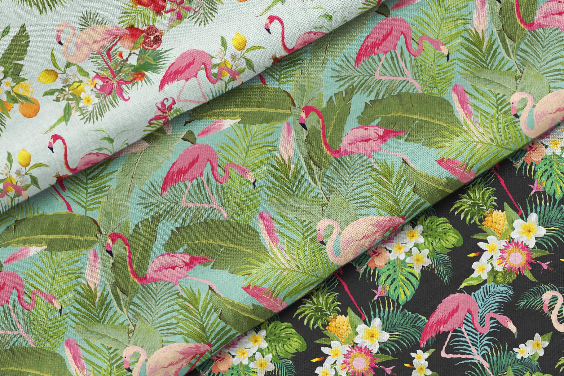Flamingo Tropical Patterns example image 3