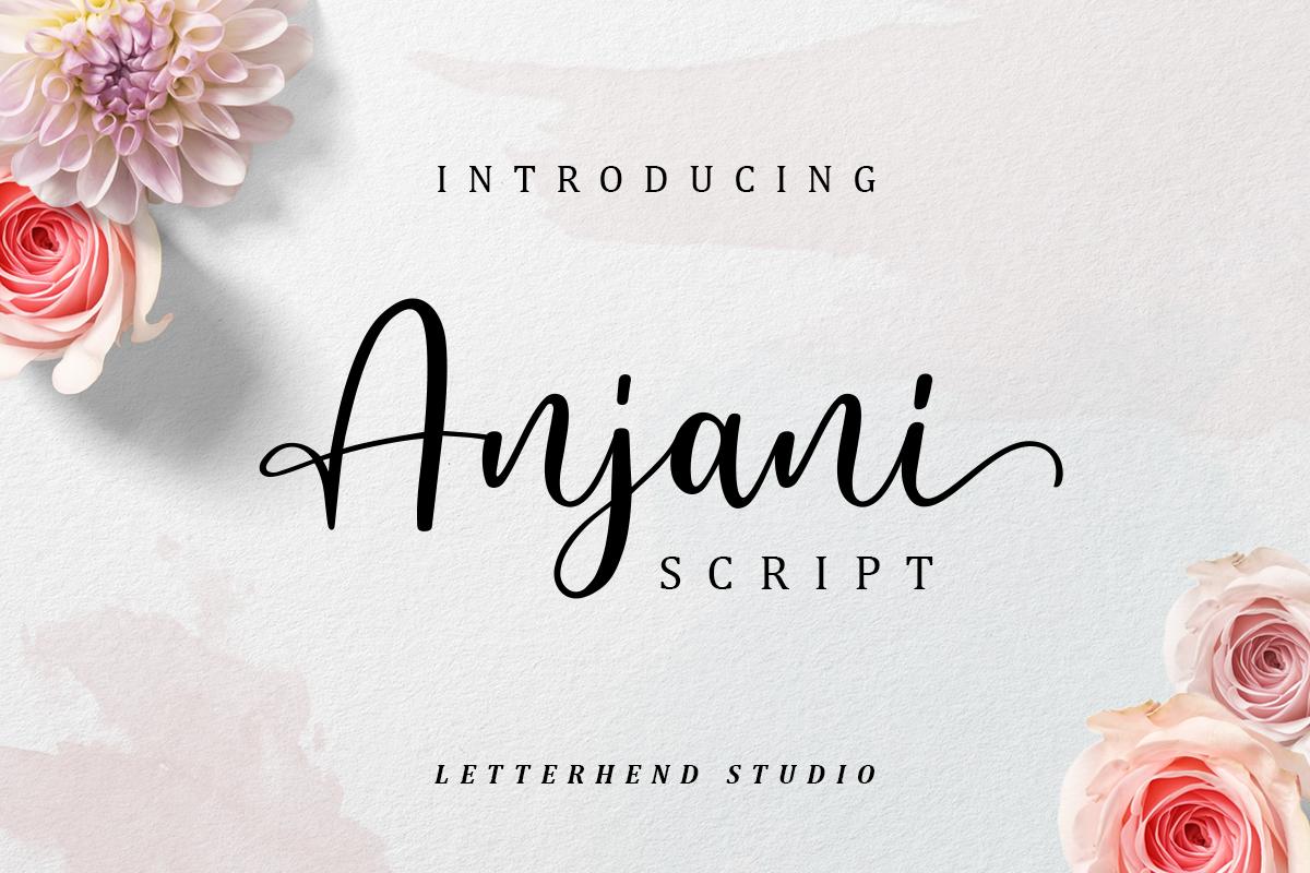 Anjani Script Modern Calligraphy example image 1