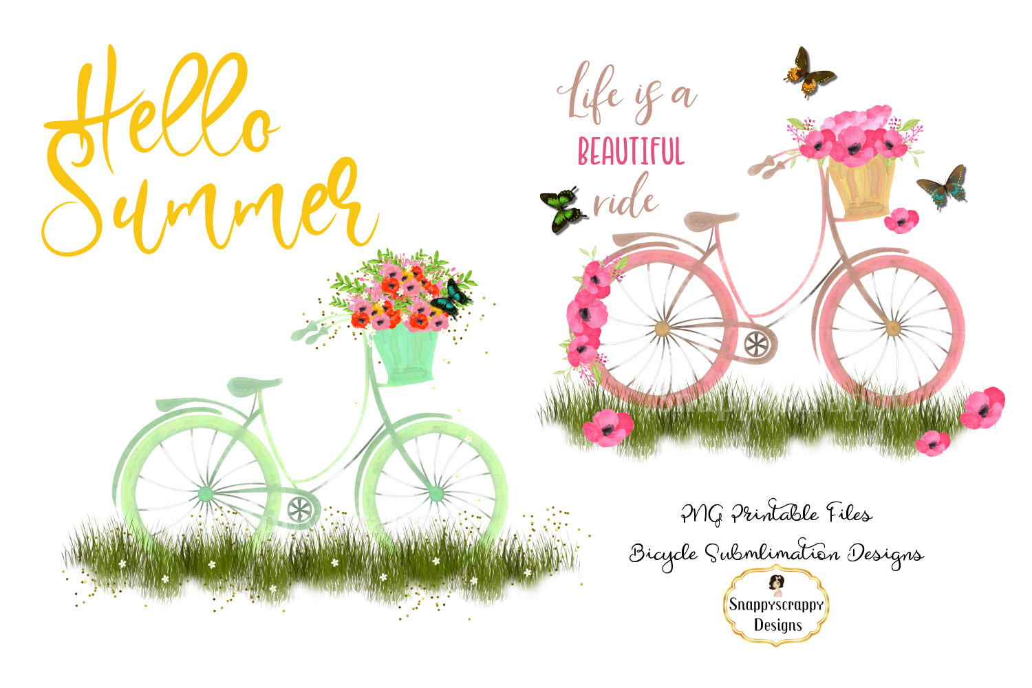 Summer Bicycle Sublimations example image 1