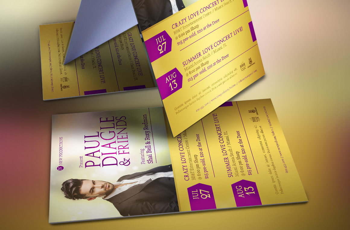 Concert Flyer Template  example image 3