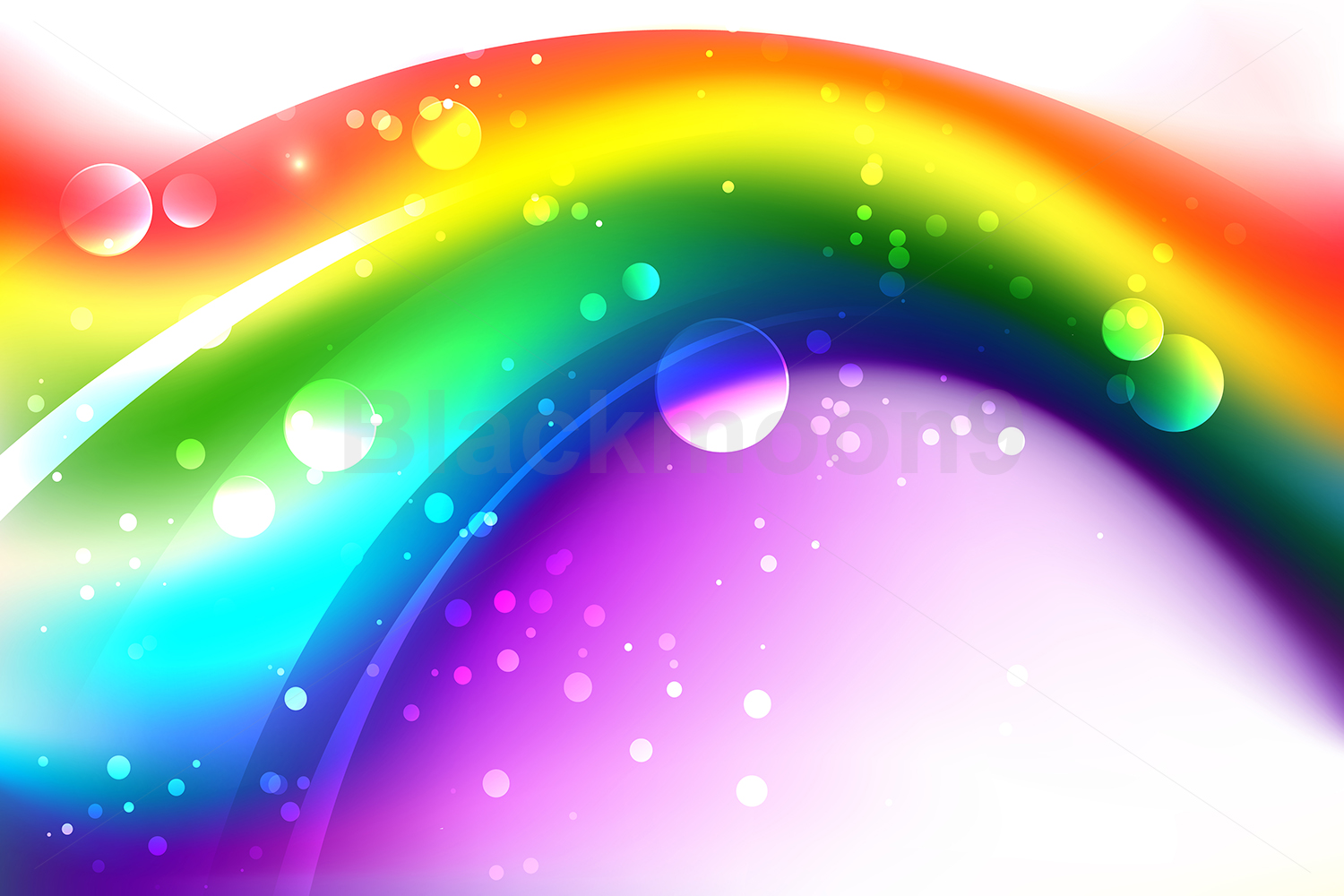 Background with Abstract Rainbow example image 1