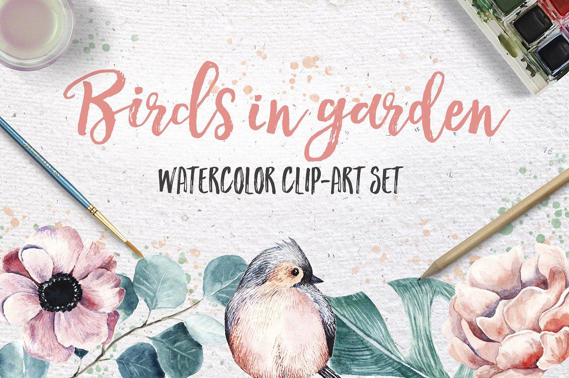 Birds in garden example image 1