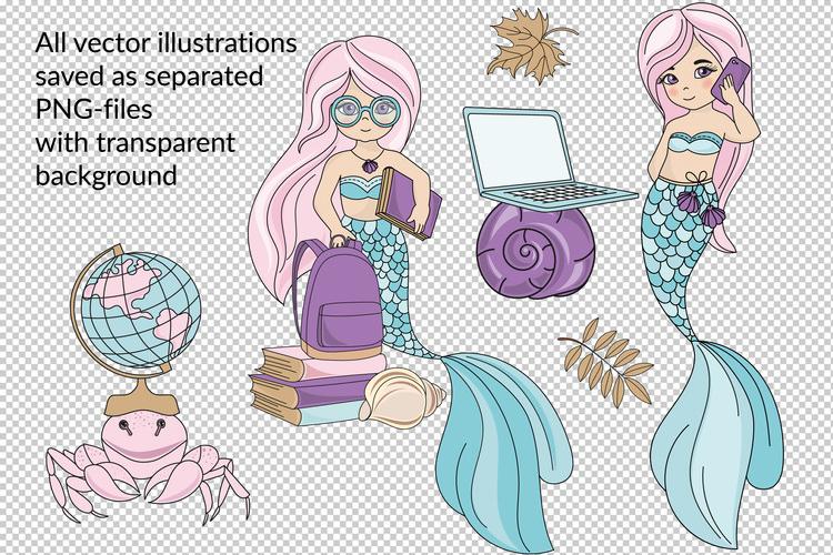 MERMAID SCHOOL Vector Illustration Animation Set example image 3