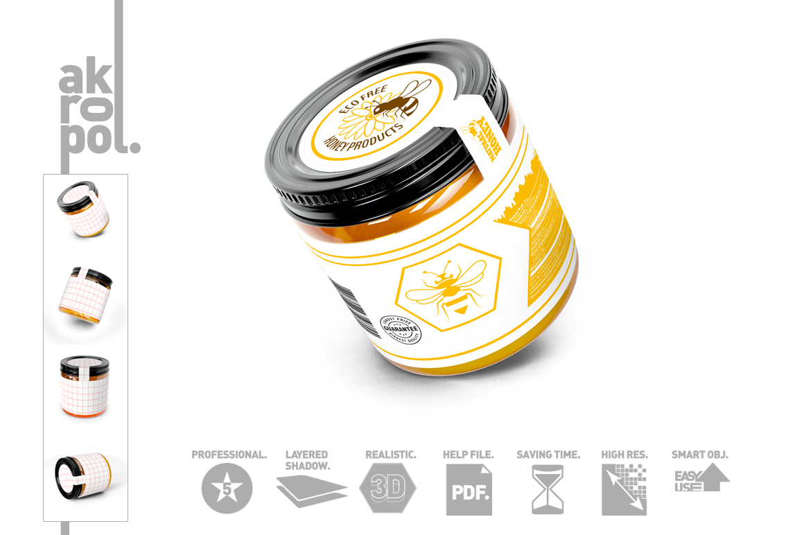 Honey Jar Bottle Mockup example image 3