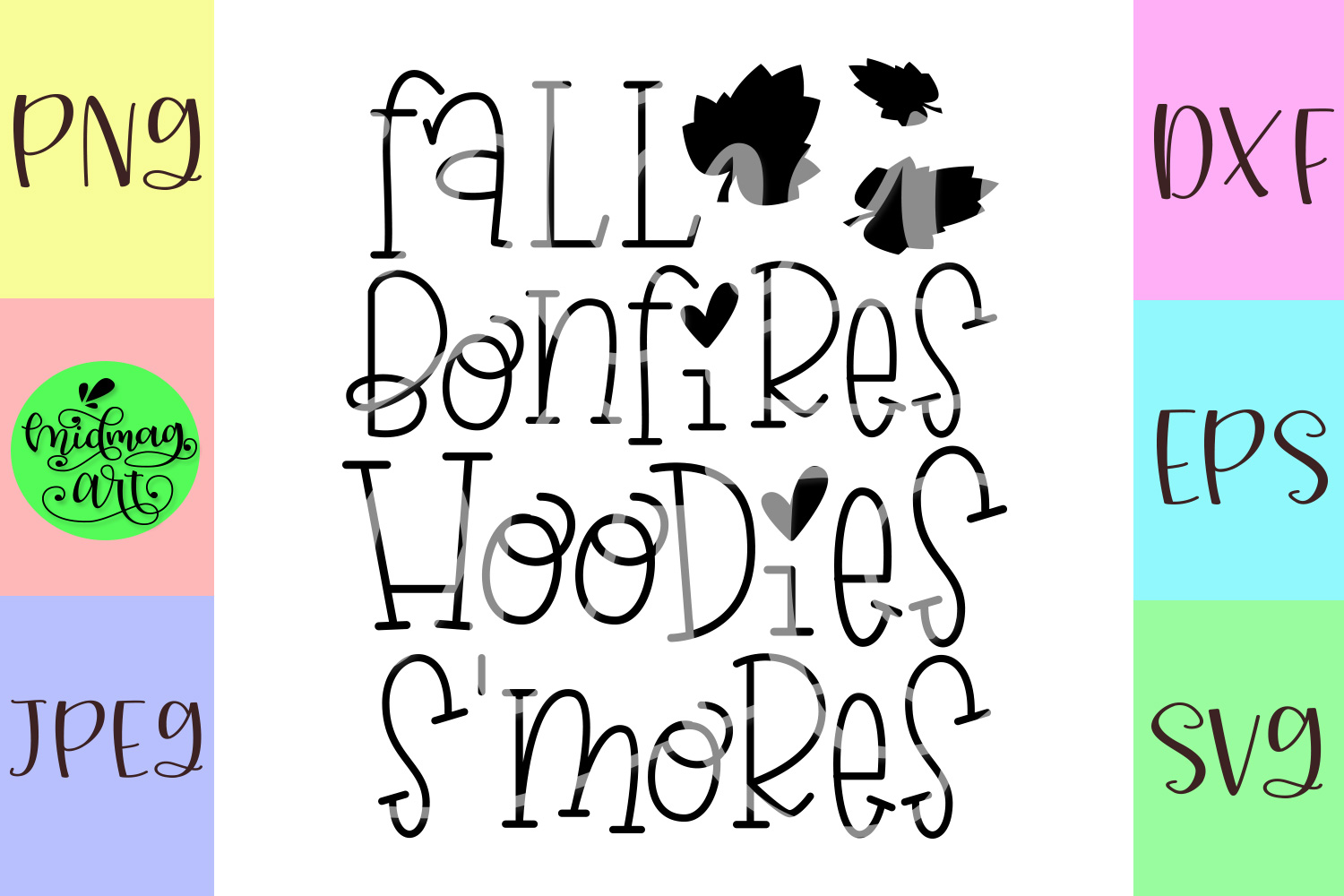 Fall bonfires hoodies s'mores svg, fall svg, example image 2