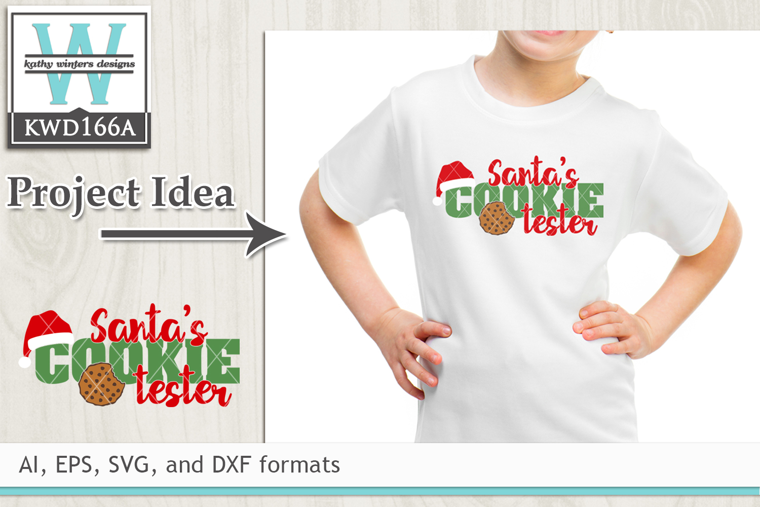 Christmas SVG - Santa's Cookie Tester example image 1