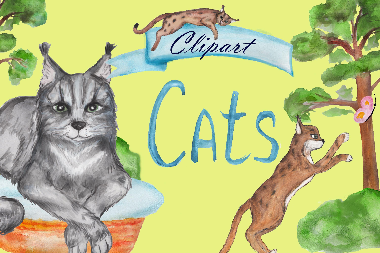 Grumpy cat clipart, savannah cat, lynx clipart, Maine coon example image 3