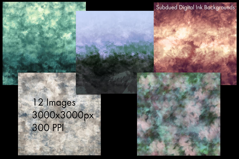 Subdued Digital Ink Backgrounds - 12 Image Set example image 2