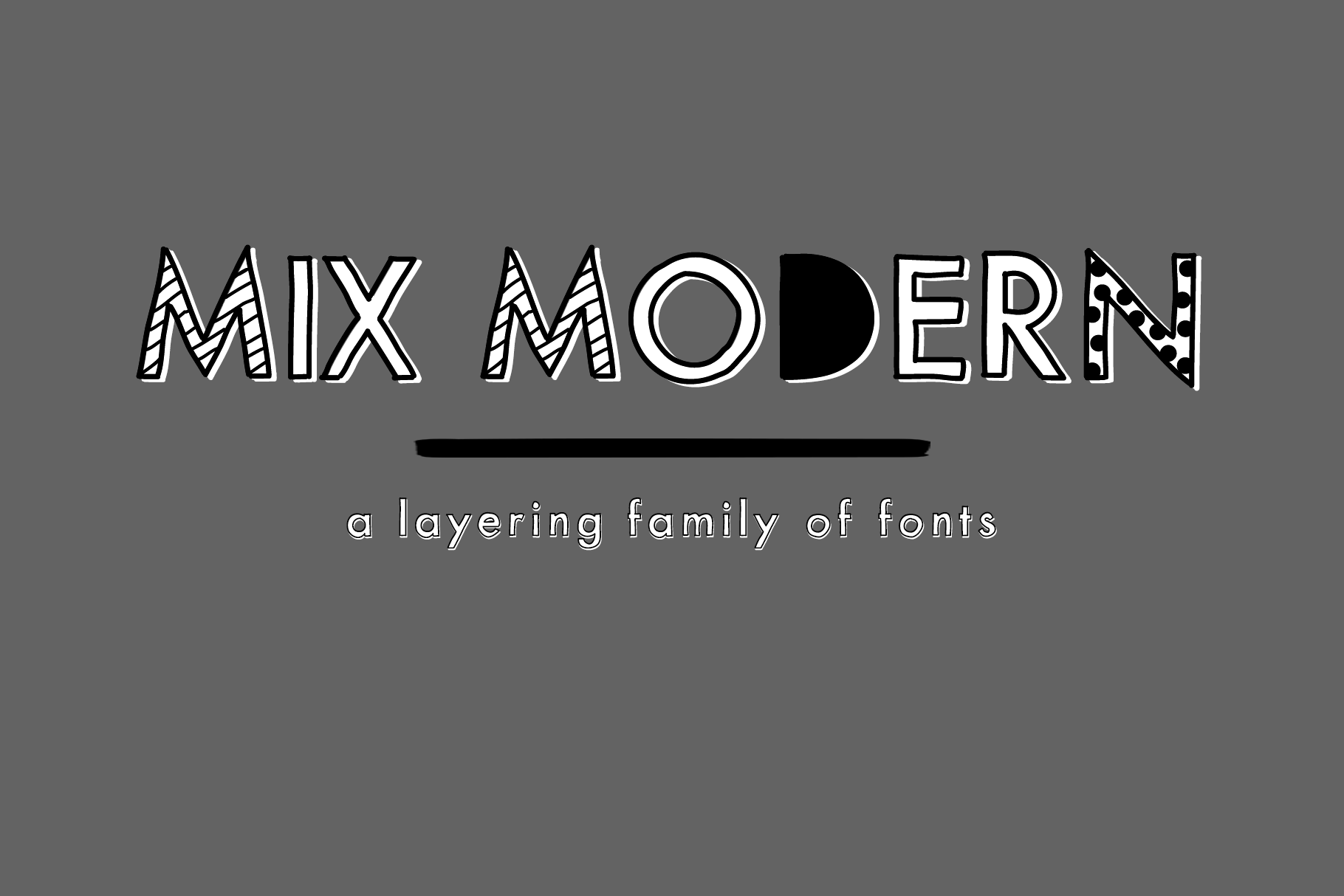 Mix Modern - A Layering Family of Fonts example image 2