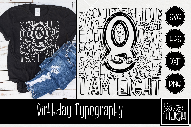 Birthday Typography Bundle example image 9