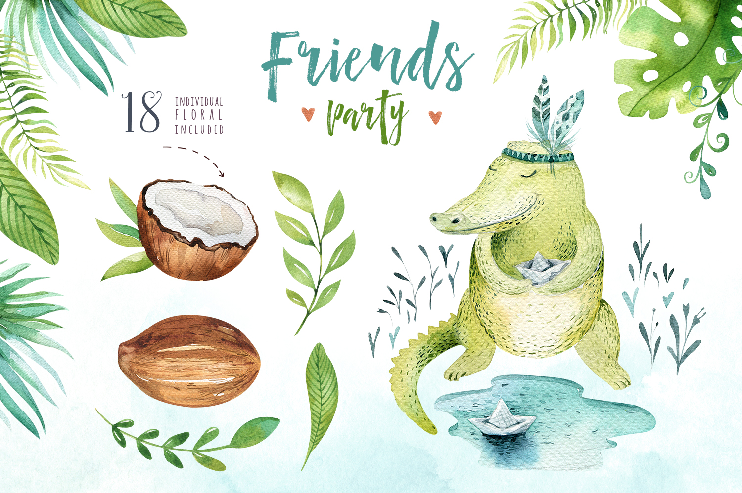 Friends party. Tropical collection example image 6
